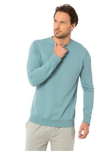 LC Waikiki Uzun Kollu Sweatshirt Mavi